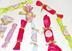 Candy gift condoms in adult party